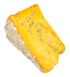 Blue Shropshire Cheese. Traditional English blue Shropshire cheese, isolated white background Stock Images