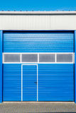 Blue shutter door Royalty Free Stock Images