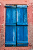 Blue Shutter. Window with blue shutters, detail from Ayvalik Stock Images