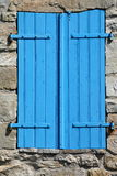 Blue shutter Royalty Free Stock Photos