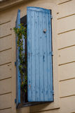Blue shutter Royalty Free Stock Images