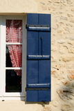 Blue Shuttered Window Royalty Free Stock Image