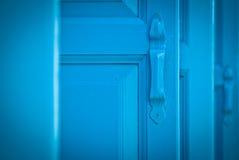 Blue shutters stock photo
