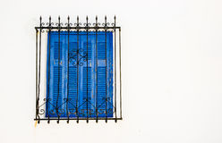 Blue shutters Royalty Free Stock Image