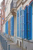 Blue Shutters Stock Photos