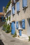 Blue shutters in Marseille, Provence, France on the Mediterranean Sea Stock Photo