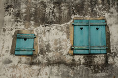 Blue Shutters Royalty Free Stock Photos