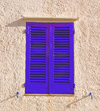 Blue shutters Stock Photography