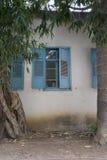 Blue shutters in Zihron Yaakov Royalty Free Stock Photo