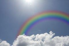 Blue shy with rainbow Stock Photo