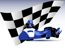 Blue sidecar. Realistic vector illustration of blue motorcycle sidecar Stock Photography