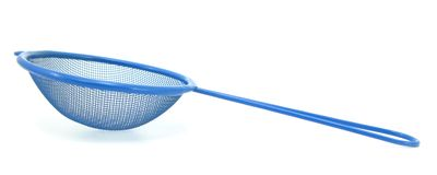 Blue sieve Royalty Free Stock Images