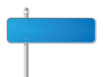 Blue Sign. Blue Information Sign over white. vector illustration. Each element on a separate layer Stock Photography