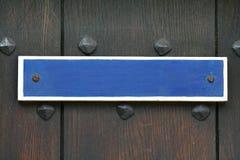 Blue sign Royalty Free Stock Photos