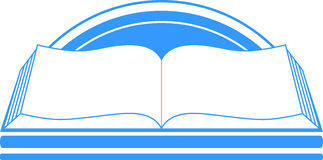 Blue sign with book and sun Stock Images