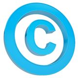 Blue sign copyright Stock Photo