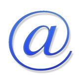 Blue sign on a white background. Blue sign isolated on white background Stock Photos