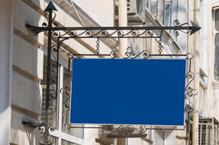 Blue signboard. Royalty Free Stock Photos