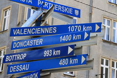 Blue signposts Royalty Free Stock Image
