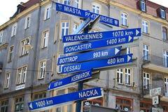 Blue signposts Stock Photo