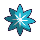 Blue silhouette figure flower icon floral. Vector illustration Royalty Free Stock Image
