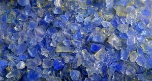 Blue Silica Gel Crystals. Are used as Desiccant or Moisture Absorbent or Dehumidifier in the boxes of Electronics and Electric Equipments Royalty Free Stock Image