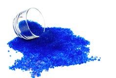 Blue silica gel ,moisture adsorbing Stock Image