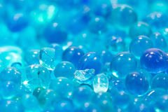Blue silica gel. Moisture adsorbing on the plate Royalty Free Stock Photography