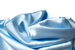 Blue silk. On a white background royalty free stock image