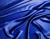 Blue silk. Background Stock Photography