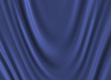 Blue silk. Soft blue silk drapery background Royalty Free Stock Photography