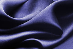 Blue silk Stock Photo
