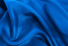 Blue Silk. Background. Large file Royalty Free Stock Photos