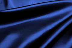 Blue silk background. Stock Photo