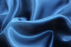 Blue silk background Royalty Free Stock Images