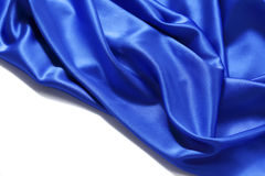 Blue silk background royalty free stock photos