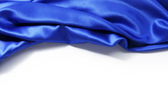 Blue silk background Stock Image