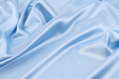 Blue silk background. Royalty Free Stock Photography