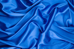 Blue silk background Royalty Free Stock Image