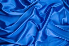 Blue silk background Royalty Free Stock Image
