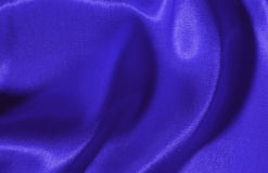 Blue silk background. Textile structure Stock Photography