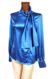 Blue silk blouse. On a white background royalty free stock images