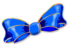 Blue Silk Bow Royalty Free Stock Image