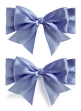 Blue silk bow set Stock Photography