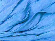 Blue silk cloth background Stock Images