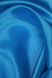 Blue Silk cloth of wavy abstract background Royalty Free Stock Image