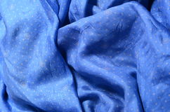 Blue silk Royalty Free Stock Photography
