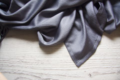 Blue silk drapery Royalty Free Stock Image