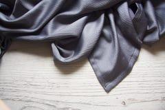 Blue silk drapery Royalty Free Stock Image