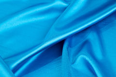 Blue silk drapery. Stock Photography